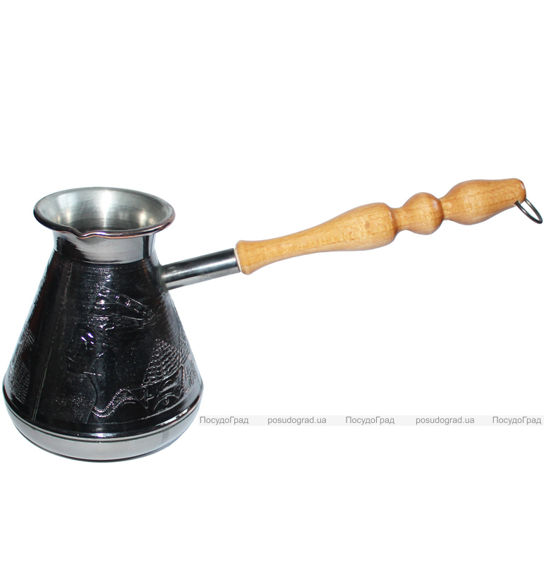 """Турка медная """"Египет"""" 700мл с деревянной ручкой"""