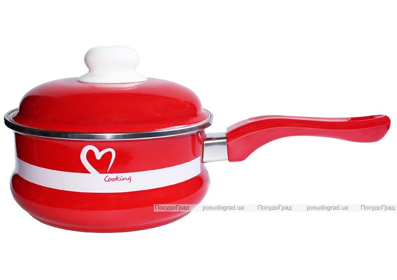 """Ковш эмалированный Metrot """"I love Cooking"""" 1,5л с крышкой"""
