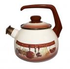 Чайник эмалированный Metrot Сельская кухня 2,5л со свистком