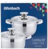 Набір 2 каструлі Ofenbach Hamburg 1.1л, 1.7л з нержавіючої сталі з 5-шаровим індукційним дном