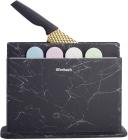 Набір 4 обробні дошки Ofenbach Black Marble 28х18х0.5см на горизонтальній підставці для ножів