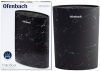 Подставка-колода Ofenbach Black Marble для кухонных ножей и ножниц 16х7х22.5см, овальная