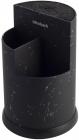 Подставка-колода Ofenbach Black Marble для кухонных ножей и ножниц 16х24см, тройная круглая
