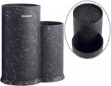 Підставка-колода Ofenbach Black Marble для кухонних ножів і ножиць 20х12х22.5см, подвійна кругла