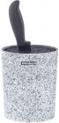 Підставка-колода Ofenbach Snow Marble для кухонних ножів 16х7х22.5см, овальна