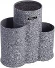 Подставка-колода Ofenbach Grey Marble для кухонных ножей 23х13х22см, тройная круглая