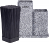 Підставка-колода Ofenbach Grey Marble для кухонних ножів 21х12х23см, подвійна
