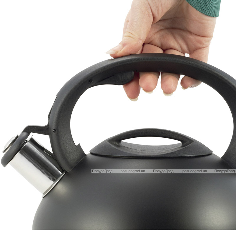 Чайник Ofenbach Happy Kettle 2.5л з нержавіючої сталі зі свистком, чорний матовий