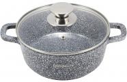 Кастрюля Ofenbach Snow Marble 6.5л индукционная с антипригарным покрытием