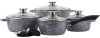 Набор кухонной посуды Ofenbach Snow Marble 10 предметов с двумя прихватками