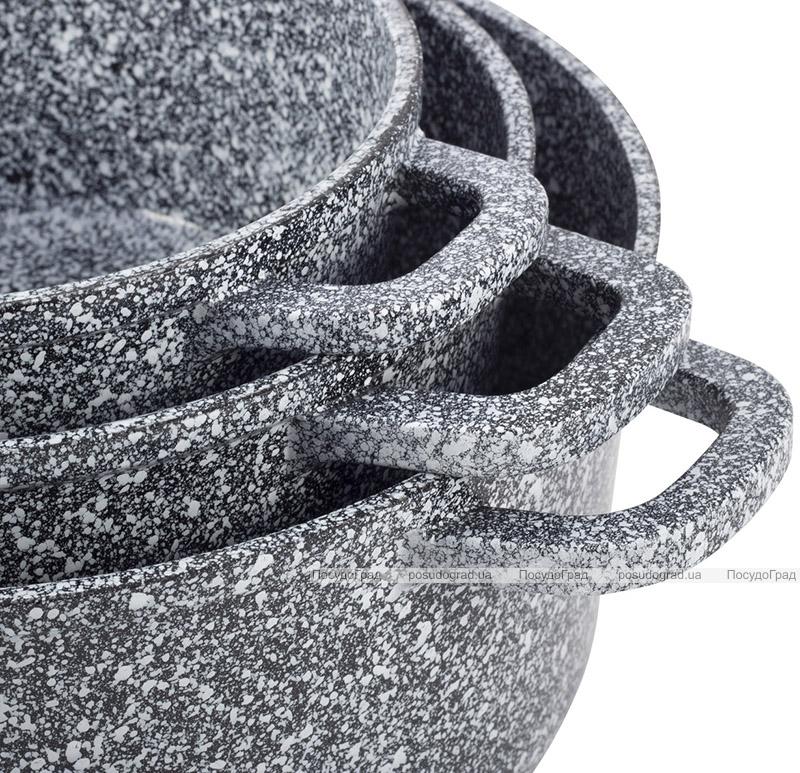 Набір кухонного посуду Ofenbach Snow Marble 8 предметів з двома прихватками