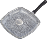 Сковорода-гриль Ofenbach Snow Marble 30см з кришкою і антипригарним покриттям, квадратна