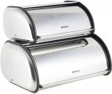 Набір 2 хлібниці Ofenbach Breadbox 43.5х27х18 і 36х23х14см з нержавіючої сталі, срібло