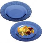 Стеклянная полупорционная тарелка Mosaic Colora Cobalt Ø21мм