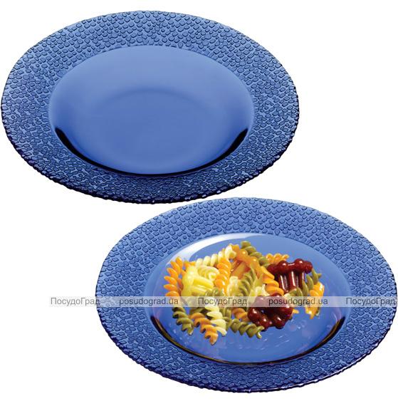 Набор 12 глубоких стеклянных тарелок Mosaic Colora Cobalt Ø21мм