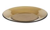 "Стеклянная тарелка ""Invitation Bronze"" Ø20см, мелкая"