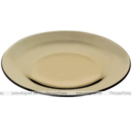 "Стеклянная тарелка ""Invitation Bronze"" Ø26см обеденная"
