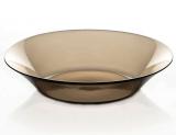 "Стеклянная тарелка ""Invitation Bronze"" Ø22см, глубокая"