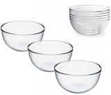 Набір 6 скляних салатників (піал) Invitation Ø13см