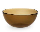 "Стеклянная салатница (миска) ""Invitation Bronze"" Ø22см"