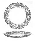 Набір тарілок Aurora Ø21см, 6 скляних тарілок