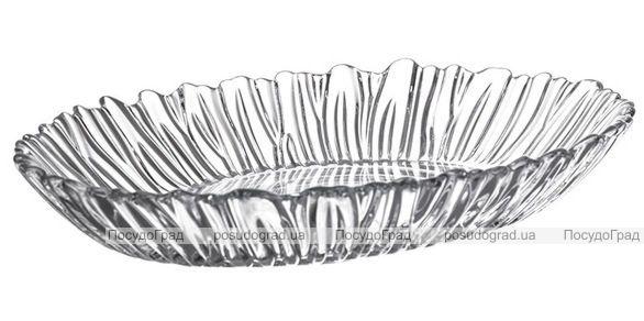 Глубокое стеклянное блюдо Aurora 25х19см, высота 3см