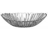 Великий скляний салатник Aurora Овальна миска 33х27см