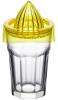 Стакан-фрешниця ZestGlass Original 415мл з загартованого скла з насадкою для фреш (жовтий)