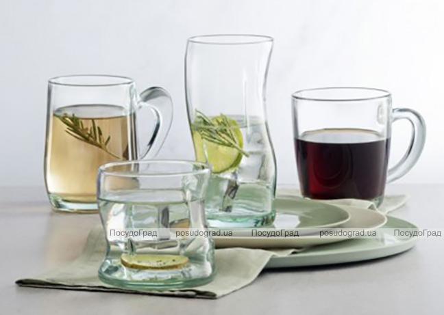 Набор 4 стеклянных стакана Amorf 400мл, в подарочной коробке