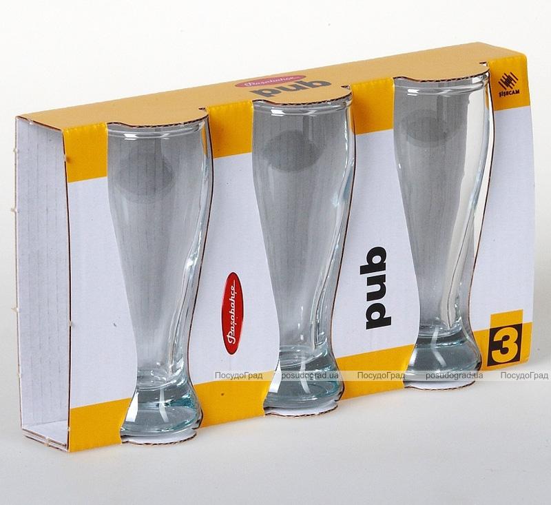 Набор 3 стеклянные рюмки PUB 60мл