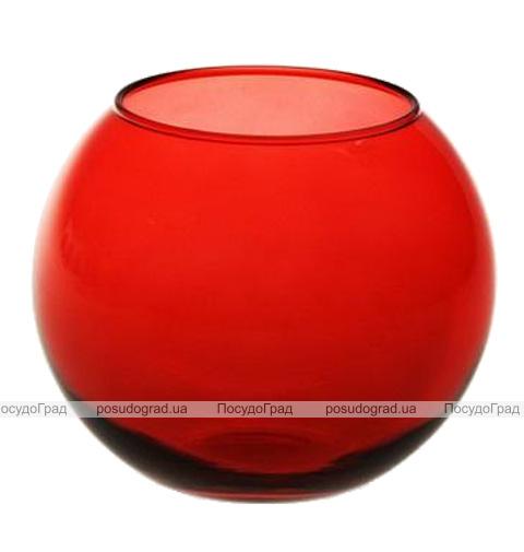 Ваза Flora WorkShop сфера 79мм красное стекло