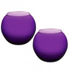 Ваза Flora WorkShop сфера 102мм пурпурове скло