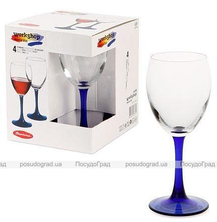 Набор Imperial Plus Blue 4 фужера для вина 240мл на кобальтовой ножке