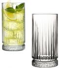Набір 4 скляних високих стакани Elysia 445мл