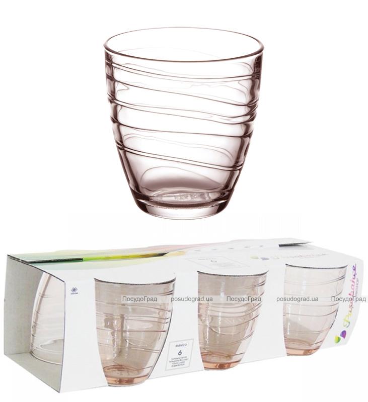 Набор 6 стаканов MEXICO 285мл (янтарь)