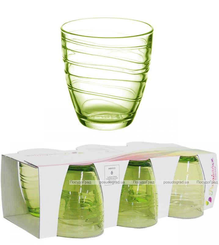 Набор 6 стаканов MEXICO 285мл (зеленый)