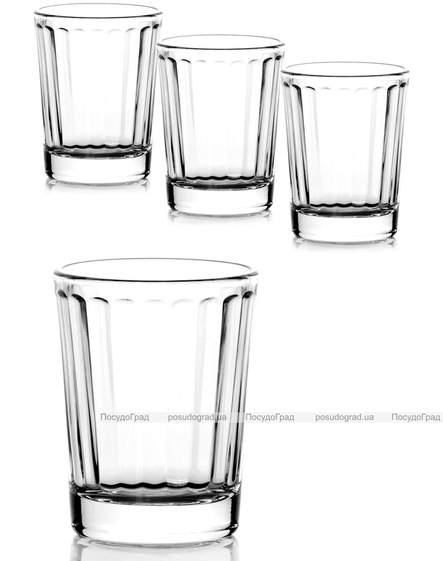 Набор 6 стопок Optica 60мл, стеклянные