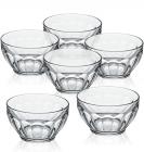 Набор 6 пиал (салатников) Casablanca Ø14см стеклянные