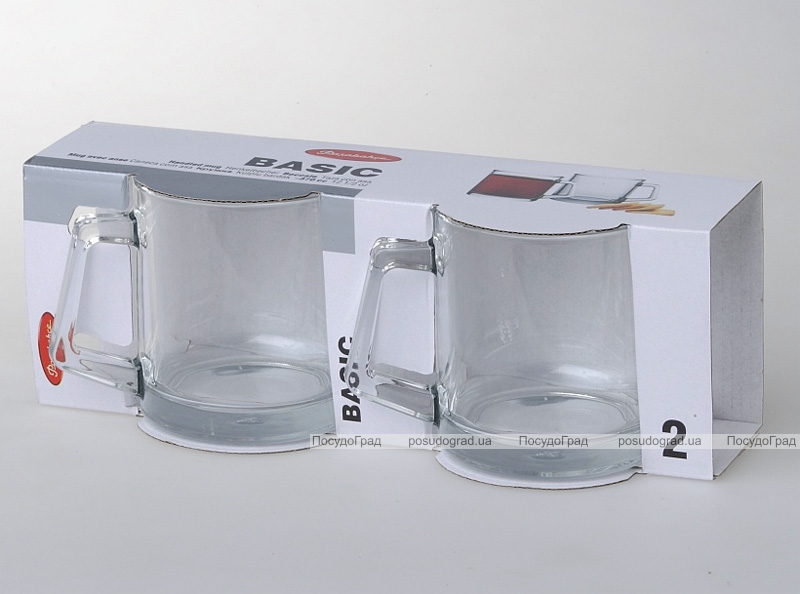 Набор 2 стеклянные кружки Basic 370мл