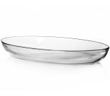 Форма для выпечки овальная Borcam 44х26см 1шт, стеклянная 6.7л