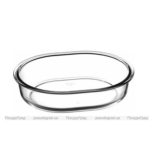 Форма для выпечки овальная Borcam 19х14см, стеклянная 520мл