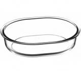 Форма для випічки овальна Borcam 25х20см, скляна 1500мл