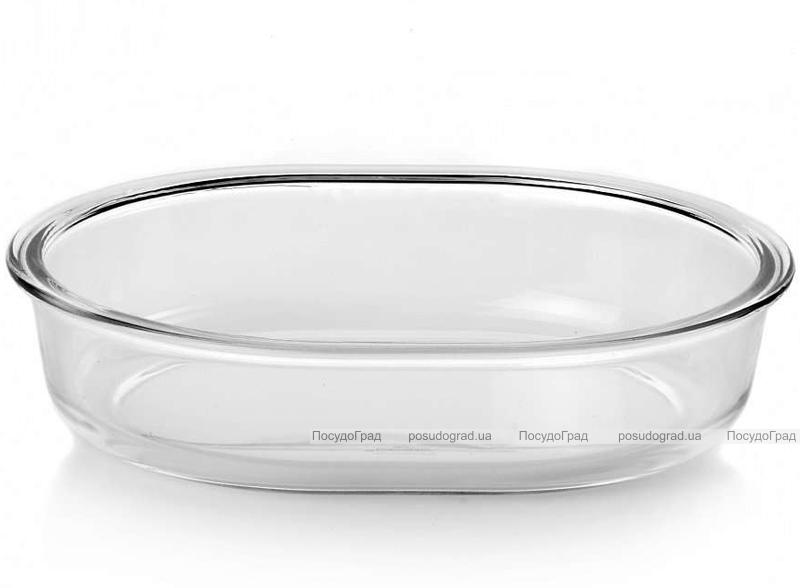 Форма для выпечки овальная Borcam 25х20см, стеклянная 1500мл