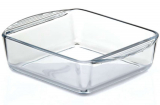 Прямокутна скляна форма (ємність) Borcam 21x16см для випічки