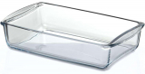 Прямоугольная стеклянная форма (емкость) Borcam 26x15см для выпечки