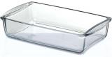 Прямокутна скляна форма (ємність) Borcam 26x15см для випічки