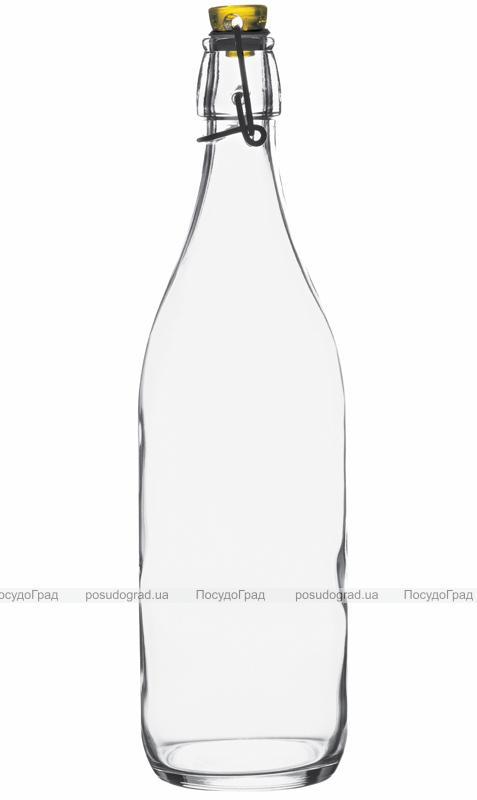 Бутылка Garden 1л, ровная с герметичной пробкой-защелкой