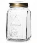 Банка скляна для продуктів Homemade 3000мл (3л) з металевою кришкою