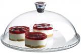 Блюдо Patisserie Ø32см з бортом і зі скляною кришкою-ковпаком