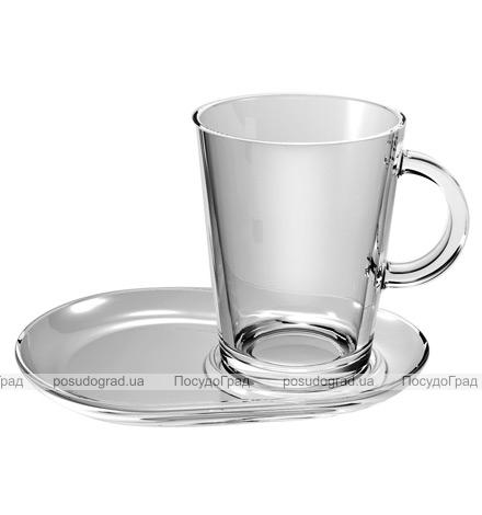 Набор чайный Tribeca Cup And Saucer 2 кружки 400мл и 2 блюдца (стекло)